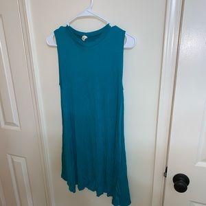 Turquoise tunic dress